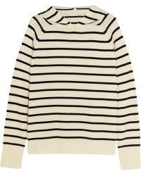 Chinti & Parker - Striped Merino Wool Hooded Top - Lyst