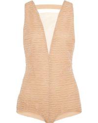 Vionnet - Ruched Silk-organza Bodysuit - Lyst