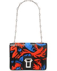 Proenza Schouler - Hava Suede-paneled Leather Shoulder Bag - Lyst