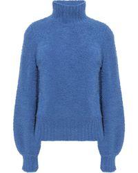 8501b0f82b3 Zimmermann - Woman Wool-blend Turtleneck Jumper Blue - Lyst