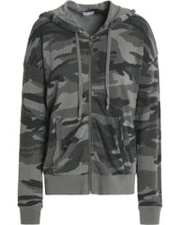 Splendid - Printed Jersey Hooded Sweatshirt - Lyst