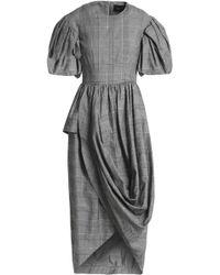 Simone Rocha - Wrap-effect Checked Cotton-blend Dress - Lyst