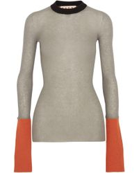 Marni - Color-block Ribbed-knit Sweater - Lyst