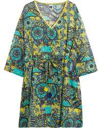 M Missoni - Printed Cotton-voile Kaftan - Lyst