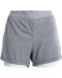 adidas - Woman Layered Tech And Stretch-jersey Shorts Stone - Lyst