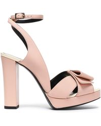 Lanvin - Leather Platform Sandals - Lyst