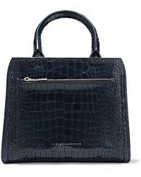 Victoria Beckham - Croc-effect Leather Shoulder Bag - Lyst