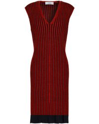 Pringle of Scotland - Ribbed Merino Wool And Silk-blend Dress - Lyst