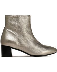 Claudie Pierlot | Metallic Textured-leather Ankle Boots | Lyst
