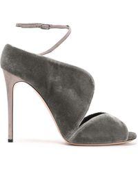 77f06ac087 Casadei Isabella Leather Platform Sandal in Natural - Lyst