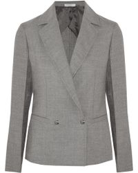 Barbara Casasola | Double-breasted Wool-blend Blazer | Lyst