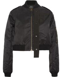 Anthony Vaccarello - Canvas-trimmed Shell Bomber Jacket - Lyst