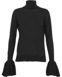 Adam Lippes - Fluted Knitted Wool Turtleneck Sweatre - Lyst