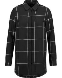 Line - Shilo Checked Crepe Blouse - Lyst