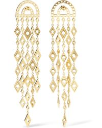 Arme De L'Amour - Gold-tone Drop Earrings - Lyst