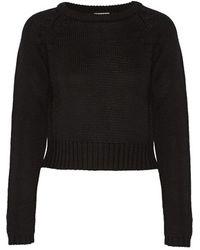 OAK - - Ribbed Merino Wool Jumper - Black - Lyst