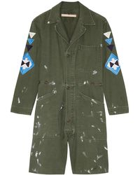 Bliss and Mischief - St. Ellen Embroidered Cotton-canvas Playsuit - Lyst