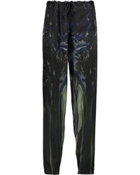 Maria Grachvogel - Mayer Printed Silk Tapered Pants - Lyst