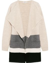 Madewell - Meridian Striped Boiled Wool Cardigan - Lyst