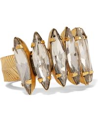 Elizabeth Cole - Gold-tone Crystal Ring - Lyst
