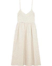 Mara Hoffman - Striped Cotton-blend Midi Dress - Lyst