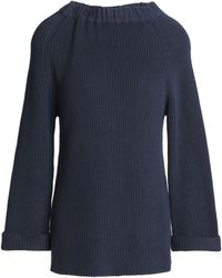 Goat Library - Woman Ribbed Cotton Jumper Midnight Blue - Lyst