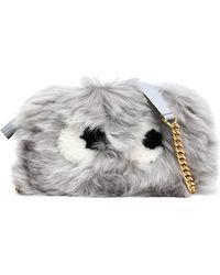 Anya Hindmarch - Eyes Mini Shearling Shoulder Bag - Lyst
