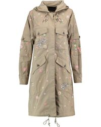 Needle & Thread - Floral Embroidered Coat - Lyst