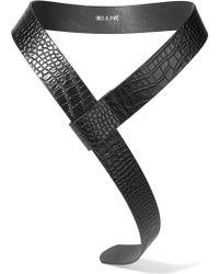 Iris & Ink   Charlie Croc-effect Leather Wrap Belt   Lyst