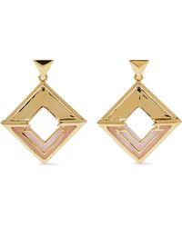 Noir Jewelry - Woman Hint Of Glint 14-karat Gold-plated Acetate Earrings Gold - Lyst