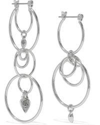 Luv Aj - Eclipse Silver-tone Crystal Earrings - Lyst