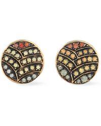 Ileana Makri - Gold-tone Crystal Earrings - Lyst