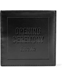 Opening Ceremony - Embossed Leather Cardholder - Lyst
