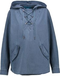 M.i.h Jeans - Denim Hooded Top - Lyst