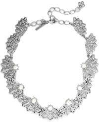 Oscar de la Renta | Silver-tone, Faux Pearl And Crystal Necklace | Lyst