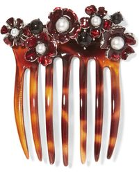 Oscar de la Renta - Acrylic, Resin And Faux Pearl Hair Comb - Lyst