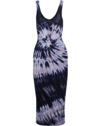 Enza Costa - Tie-dyed Stretch-jersey Midi Dress - Lyst