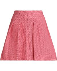 RED Valentino - Flared Pleated Jacquard Mini Skirt - Lyst