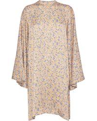 Acne Studios - Printed Satin Mini Dress - Lyst