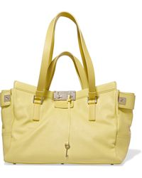 Jimmy Choo - Textured-leather Tote - Lyst