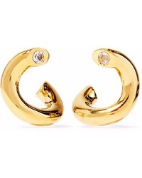 Elizabeth and James - Woman Gold-tone Crystal Earrings Gold Size -- - Lyst