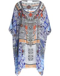 Camilla - Crystal-embellished Printed Silk Coverup - Lyst