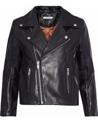 Ganni - Passion Leather Biker Jacket - Lyst