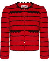 Sonia Rykiel - Striped Cotton-blend Bouclé-tweed Jacket - Lyst