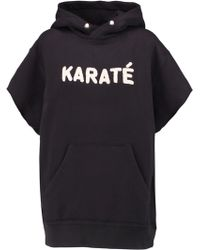 Étoile Isabel Marant - Carlo Terry-embroidered Cotton-blend Hooded Sweatshirt - Lyst