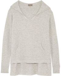 N.Peal Cashmere - Cashmere Hooded Jumper Light Grey - Lyst