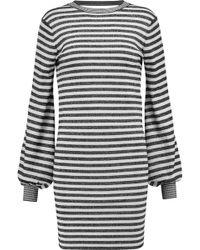 Maje - Metallic Striped Stretch-knit Mini Dress - Lyst
