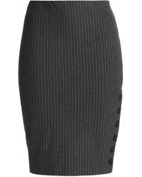 Bailey 44 - Woman Pinstriped Stretch-jersey Pencil Skirt Dark Gray - Lyst