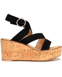 Gianvito Rossi   Suede Wedge Sandals   Lyst