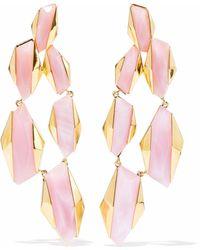 Noir Jewelry - Sparks Fly 14-karat Gold-plated Resin Earrings - Lyst